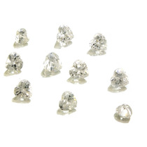 Lotes Pedras Preciosas 10 Zircônias Brancas J14452