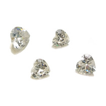 Lote Pedras Preciosas 4 Zircônias Brancas J14442
