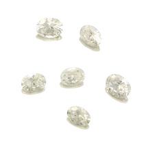 Lote Pedras Preciosas 6 Zircônias Brancas J14437