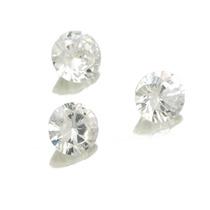 Lote Pedras Preciosas 3 Zircônias Brancas J14315