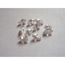 15 Pedras Zirconias Navetes 5x 2,5