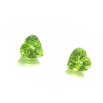 Par De Pedras Preciosas Peridotos Coraçao Briolet J10873