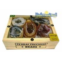 Coleção De Geodos De Ágatas Naturais Pedras Souvenir Brasil
