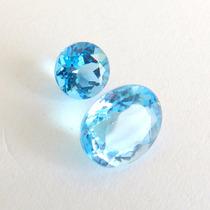 Topázio Natural Swiss Blue Pedra Preciosa Preço 2 Gemas 3439