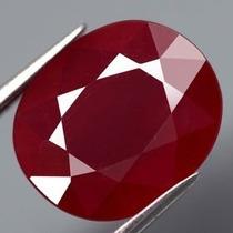 Rubi Natural Sangue Oval Com 3,05 Cts - Vs 0,92mm X 0,72mm