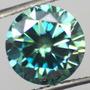Diamante Moissanite Azul Brilhante. Mais Linda Ao Vivo.