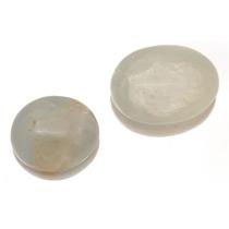 Belissimo Par Pedras Preciosas Quartz Azuis Cabochao J12884