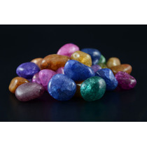 1 Kg -pedras Roladas Cristal Tingido Misto - Ctm