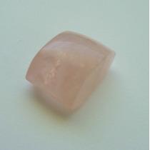 Quartzo Rosa Pedra Preciosa Natural Cabeça De Anel 7584