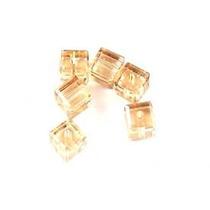 Swarovski Cristal - 6 Peças - 5601 -4 Mm - Golden Shadow