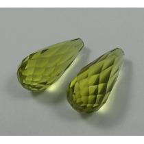 27,34 Cts Belíssimo Green Gold Verde Lemon Furado 0510