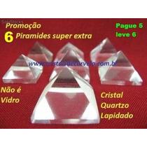 1 Mini Piramide Cristal Pedra Natural Comprando 5 Leva 6