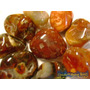 Gema/pedra Ágata Laranja Natural Rolada Polida Lapidada/ 2cm