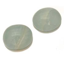 Belissimo Par Pedras Preciosas Quartz Azuis Cabochao J12882