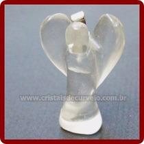 Anjinho Pingente Pedra Cristal Quartzo Lapidado Frete Barato