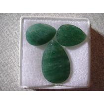Natural Pedras Quartzo Verde Cor De Esmeralda 32,5 Cts