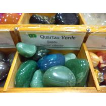 Pedra Do Signo Câncer - Quartzo Verde Natural Rolada / 2cm