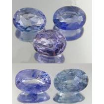 Lindo Lote Com 5 Safiras Azul Claro Peso Total 2.44 Quilates