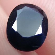 Safira Azul Escuro Oval De Original Asia