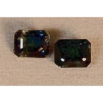 Rsp 1310 Lindo Par De Safira Bi-color Azul/verde Com 1,35 Ct