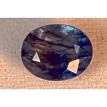 Rsp 1346 Linda Safira Azul Natural Oval Com 3,13 Ct