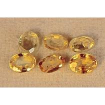 Rsp 1914 Linda Safira Amarela Oval 3,8mm Preço Pedra 0,17 Ct
