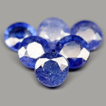 Safira Azuis Redondas Facetadas 9 Peças 17,71 Ct
