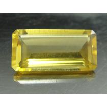 8.5 Cts Lindo Topázio Imperial Amarelo Retangular