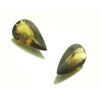Belissimo Par De Pedras Preciosas Topazio Fume J11063