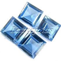 Fretgráts Kit Lote 2 Pares Pedra Natural Topázio Azul London