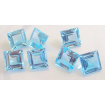 Pedras Preciosas Topazio Azul Carre 3mm. Frete Gratis