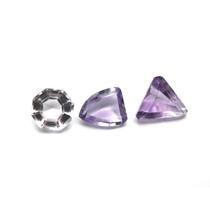 Lote 3 Pedra Ametista E Cristal Natural Com 11,5klt P735