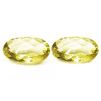 Par Quartzos Green Gold 21.78 Cts(18x13mm)ver Vídeo-f.grátis