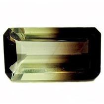 Pedra Quartzo Bicolor De 16.05 Cts(22.5x12mm( Frete Grátis)