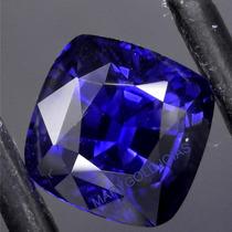 Bela Safira Azul Da Caxemira Corte Antique 10x10 C/ 5.17 Cts