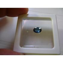 Natural Pedras Turmalina Azul Escuro Gema Belíssima E Única