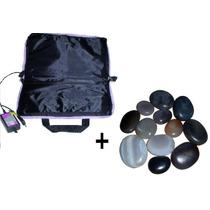 Bolsa Aquecedora /pedras Quentes +12 Pedras+bambu+escaldapés