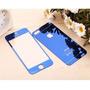 Película De Vidro Azul Espelhada Iphone 4 / 4s Frente Verso
