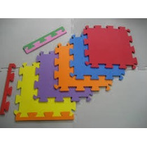 Tapete Kit Com 8 Placas 50x50 10mm Emborrachado Eva Tatame