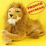Bicho De Pelucia Leão Selvagem Grande 62cm Antialérgico