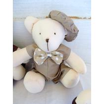 Urso Para Nicho Decoração Quarto De Bebê Enfeite Berço Bege