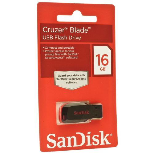 Pen Drive Sandisk Cruzer Blade Sdcz50 16gb Pto