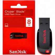 Pen Drive Sandisk Cruzer Blade 8gb 100% Original Lacrado