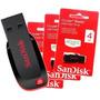 Pen Drive 4gb - Sandisk Cruzer Blade - Original