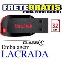 Pen Drive 32gb Sandisk Novo Lacrado Frete Grátis Brasil
