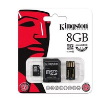 Cartão Micro Sd Adap Pendrive Kingston 8gb Class10 Mbly10g2