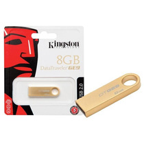Pendrive Dtge9/8gbz Data Traveler 8gb Ouro Usb 2.0 Kingston