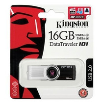 Pen Drive Original 16gb Kingston Dt101 Giratório Usb Lacrado