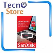Pen Drive Sandisk Z50 Cruzer Blade 64gb Original Lacrado