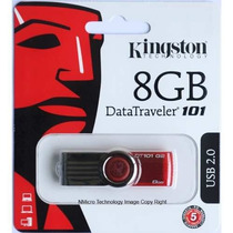 Pendrive Kingston 8g Dt101 G2 Lacrado 100% Original
